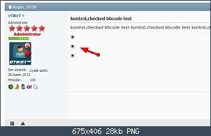 Resmi gerçek boyutunda görmek için tıklayın.  Resmin ismi:  FireShot Screen Capture #050 - 'kontrol,checked bbcode test' - vbulletin4demo_vbulletin_web_tr_s.png Görüntüleme: 68 Büyüklüğü:  28.3 KB (Kilobyte)