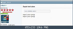 Resmi gerçek boyutunda görmek için tıklayın.  Resmin ismi:  İnput test alanı' - vbulletin4demo_vbulletin_web_tr_showthread_php_t=120&p=173#post173.png Görüntüleme: 53 Büyüklüğü:  19.5 KB (Kilobyte)