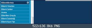 Resmi gerçek boyutunda görmek için tıklayın.  Resmin ismi:  admincp_eklentiler_nav.PNG Görüntüleme: 51 Büyüklüğü:  7.9 KB (Kilobyte)